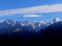 Landscape photo of Himalayas. Mountain view from Auli,India Royalty Free Stock Images