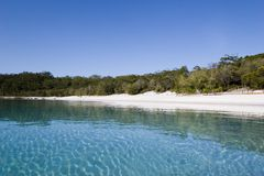 Landscape photo of lake mckenzie 1 Stock Image