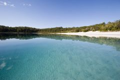 Landscape photo of lake mckenzie 2 Stock Photos