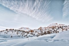 Landscape Photo of Mountain Filled With Snow Stock Photography