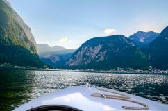 Landscape Photo Of Mountains Near Body Of Water Stock Image