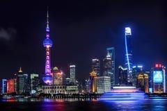 Landscape Photo of Night City Stock Photo