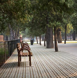 Landscape photo of quiet park Royalty Free Stock Photography