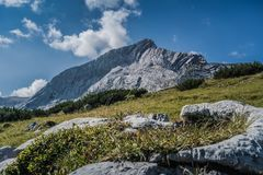 Landscape Photo of a Rock Mountain royalty free stock image