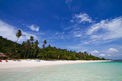 Landscape photo of Talu island beach Stock Photo