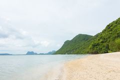 Landscape photo of tranquil island beach stock images