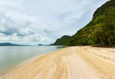 Landscape photo of tranquil island beach stock photo