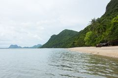 Landscape photo of tranquil island beach royalty free stock image