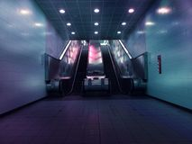 Landscape Photo of Two Escalators Stock Photography
