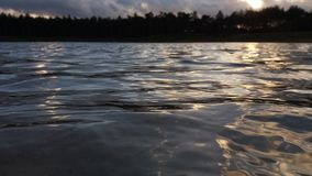 Landscape photo of the waves of the Zandenplas Stock Images