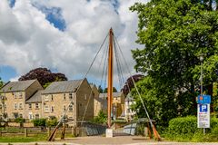 Jenson Button Bridge in Frome, Somerset. Landscape photograph of The Jenson Button Bridge, Frome, Somerset stock images