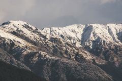 Landscape Photograph of Snow-capped Mountains Stock Photo
