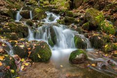 Landscape photograph of yedigoller waterfalls. stock images