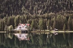 Landscape Photography of Cabin Near Forest Stock Photography