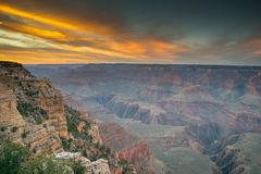 Landscape Photography of Canyon during Sunset Stock Images