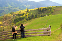 Landscape photography in Carpathians Stock Image