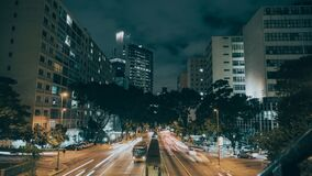 Landscape Photography of Cars at City during Nighttime Stock Image
