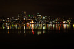 Landscape Photography of a City during Night Time Stock Image