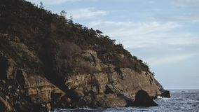 Landscape Photography of Cliff and Ocean Royalty Free Stock Images