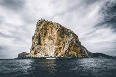 Landscape Photography of Gray Rock Formation stock images