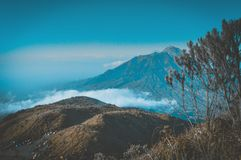 Landscape Photography of Mountain Surrounded by Sea of Clouds Royalty Free Stock Photography