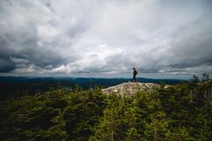 A landscape photography with mountains and clouds stock images