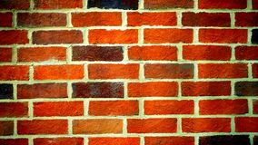 Landscape Photography of Orange Brick Wall Stock Photo