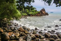 Landscape Photography of Sea Shore Royalty Free Stock Photos