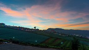 Landscape Phu Tub Berk. Sunset in the evening on hill of Phu Tub Berk in Phetchabun, Thailand stock images