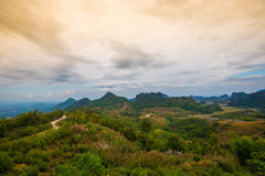 Landscape Phupapoh at Loei Thailand Royalty Free Stock Photos