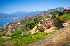 Landscape of Piana, South Corsica, France Stock Photography