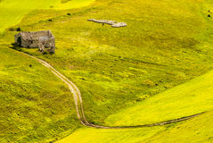 Landscape of Piano di Castelluccio Stock Photo