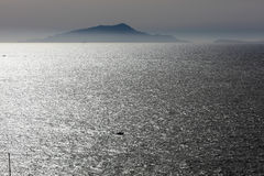 Landscape from piano di sorrento. Seascape from Piano di Sorrento, little village near Sorrento, Naples Stock Image