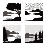Landscape pictograms Stock Photo