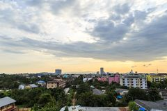 Landscape picture of Hatyai city Songkhla Thailand. Landscape picture of Hatyai city Songkhla Thailand at evening, Hatyai is a port of southern Thailand Stock Image