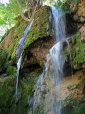 Landscape of a picturesque and beautiful waterflow with moss Stock Photo