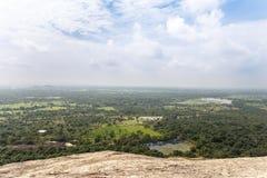 Landscape with Pidurangala Ancient Forest Monastery, Sigiriya, S Stock Photos
