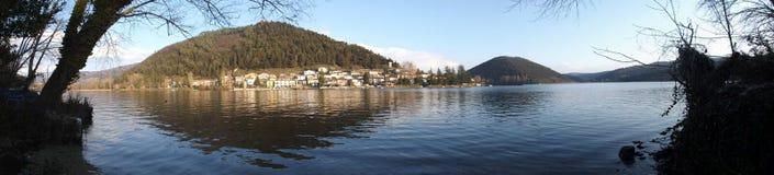 Landscape piediluco (umbria). Panoramic view of the lake piediluco Stock Photo