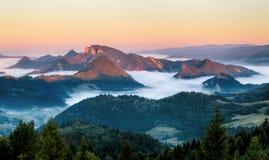 Landscape in Pieniny, Slovakia Stock Image