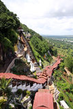 Landscape from Pingdaya hill in Myanmar Royalty Free Stock Photography