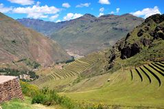 Landscape in Pisac in the Urubamba valley royalty free stock images