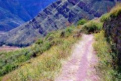 Landscape in Pisac in the Urubamba valley stock photo