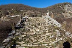 Landscape of Plakidas Bridge, Pindus Mountains, Zagori, Epirus, Greece Stock Images