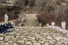 Landscape of Plakidas Bridge, Pindus Mountains, Zagori, Epirus, Greece Royalty Free Stock Image