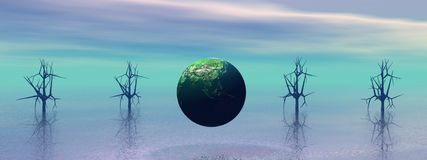 Landscape planet Royalty Free Stock Photography