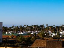 Landscape of Playa Blanca, Lanzarote Canary Islands. stock photography