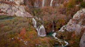 Landscape on Plitvice Lakes stock video footage
