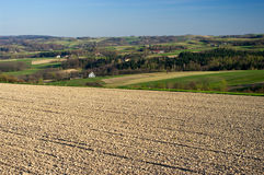 Landscape with plowed field Royalty Free Stock Photography