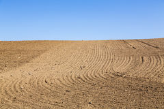 Landscape with plowed field Stock Image