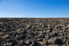 Landscape plowed field Royalty Free Stock Image